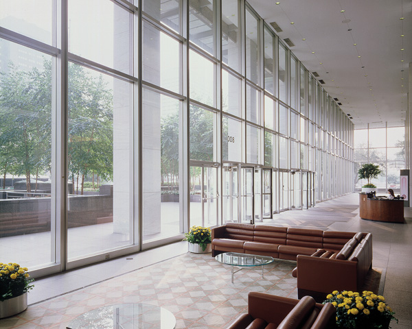Window film on large windows